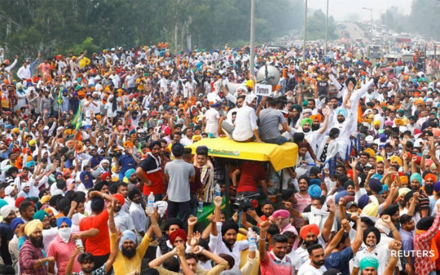 بھارت میں احتجاج کرنے والے کسانوں پر بی جے پی کے غنڈوں کا حملہ