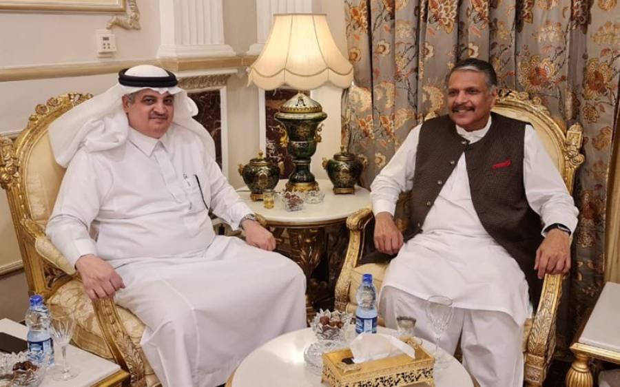 مسلم لیگ ض کے سربراہ اعجاز الحق کی سعودی سفیر سے ملاقات