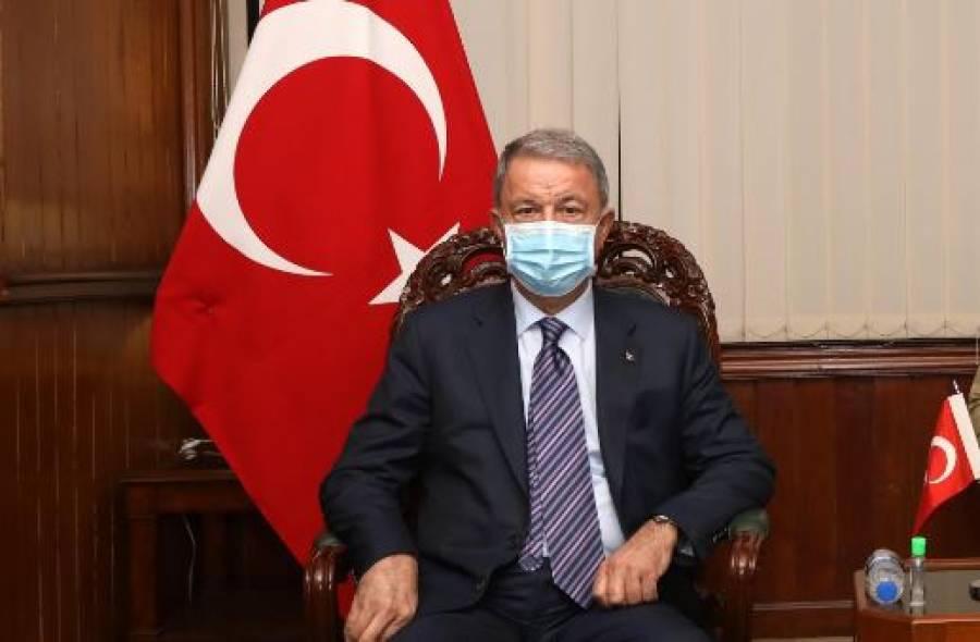 ترک وزیر دفاع کی چیئرمین جوائنٹ چیفس آف سٹاف کمیٹی جنرل ندیم رضا سے ملاقات ، باہمی دلچسپی کے امور پر تبادلہ خیال