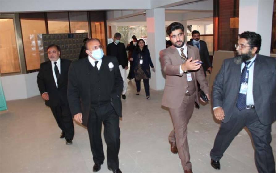 جسٹس راجہ محمد سعید اکرم کا ایم ٹی بی سی کمپنی کا دورہ