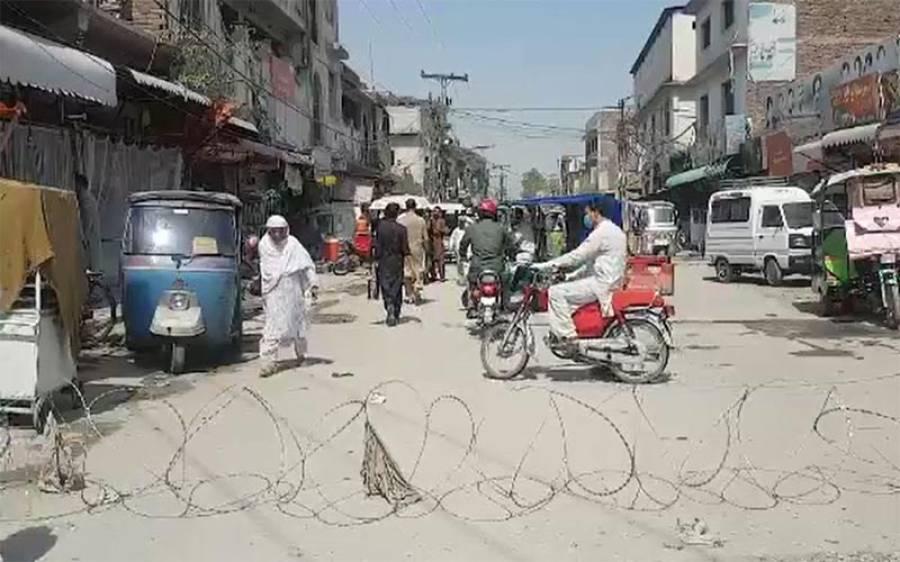 پشاور کے مزید4 علاقوں میں سمارٹ لاک ڈاﺅن لگا دیاگیا