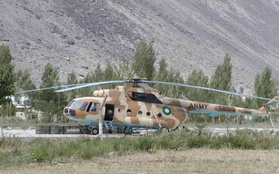پاک فوج کے جوان کا جسد خاکی منتقل کرتے ہوئے ہیلی کاپٹر گر کر تباہ، 2 میجرز سمیت 4 جوان شہید