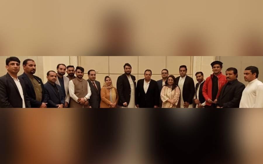 شہریار آفریدی کی پی ٹی آئی متحدہ عرب امارات کی لوکل تنظیم سے ملاقات