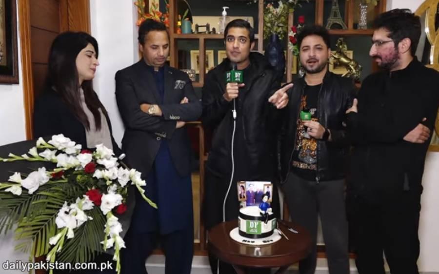 اقرارالحسن کی میزبانی میں یاسر شامی کی سالگرہ