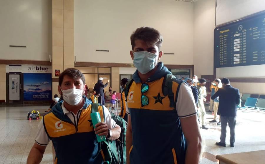 جنوبی افریقہ کیخلاف پہلے ٹیسٹ میچ کیلئے قومی سکواڈ کراچی پہنچ گیا