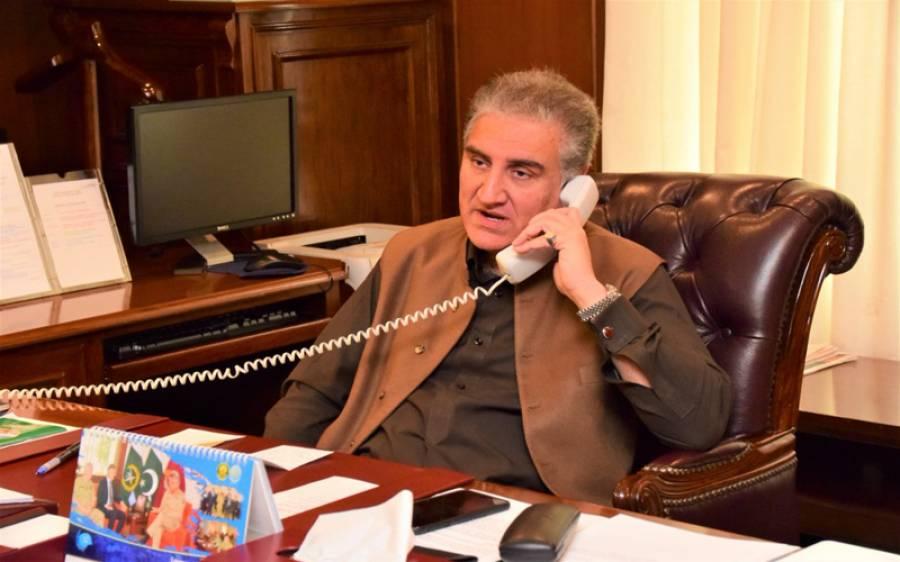 وزیرخارجہ شاہ محمودقریشی کا امریکی ہم منصب سے ٹیلی فونک رابطہ