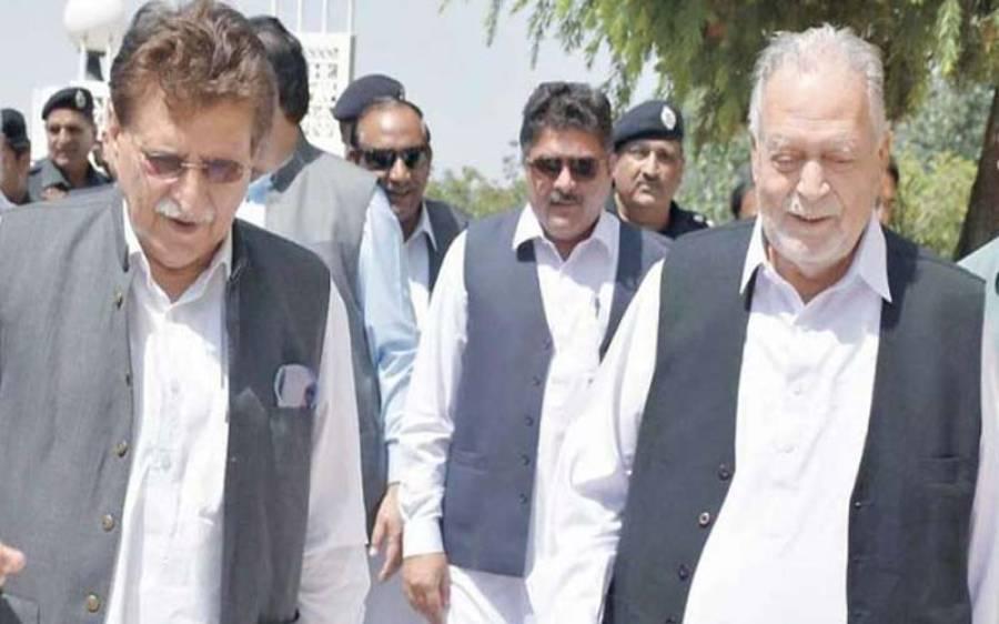 سابق وزیراعظم آزادکشمیر سردار سکندر حیات نے مسلم لیگ ن سے ناطہ توڑدیا