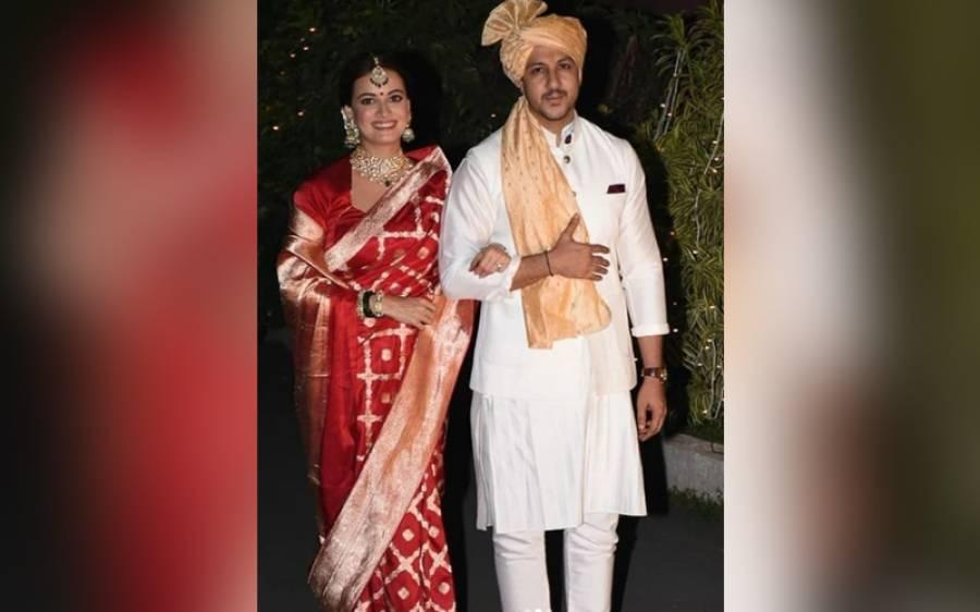 بالی وڈ اداکارہ دیا مرزا کی شادی، تصاویر بھی سامنے آگئیں