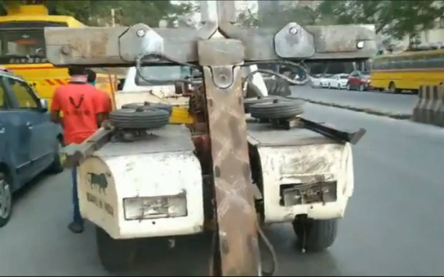 شہری کی شکایت ، ممبئی میں ٹریفک پولیس کی گاڑی کا ہی چالان کردیا گیا