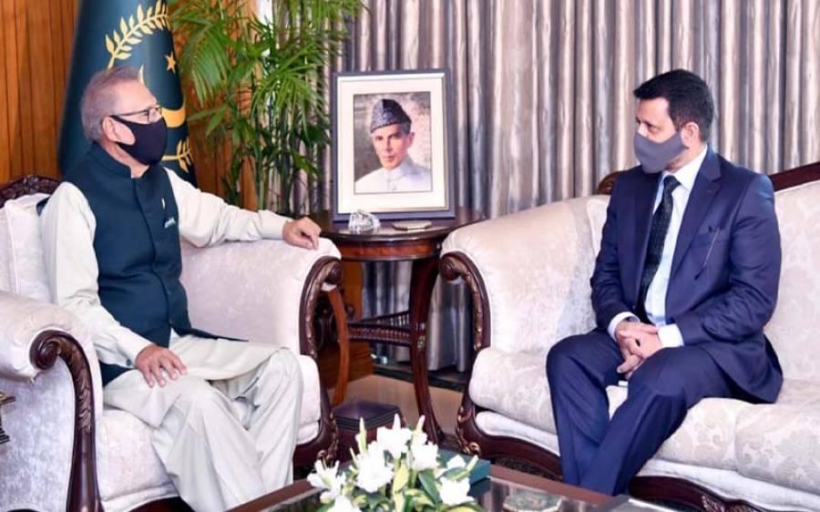 صدر مملکت عارف علوی سے ازبک سفیر علی اسد گیلانی کی ملاقات