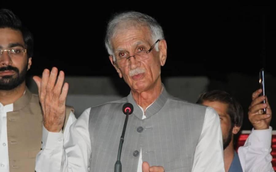 پی کے 63میں 6 ہزار ووٹوں کی چوری پکڑی گئی ، ثبوت الیکشن کمیشن میں جمع کروا دیے: پرویز خٹک