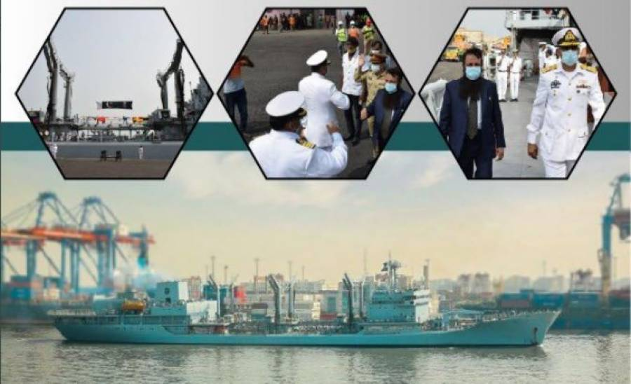پاک بحریہ کا جہاز پی این ایس نصر انسانی ہمدردی کے مشن پہ مغربی افریقہ پہنچ گیا