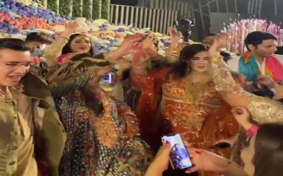 پی ایس ایل کا ترانہ ' گروو میرا' شادیوں پر بھی ہٹ، دولہا دلن سمیت مہندی کے شرکا کی ڈانس ویڈیو وائرل