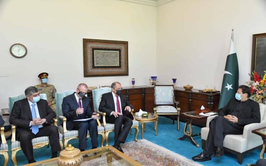 وزیراعظم اور آرمی چیف سے روسی وزیر خارجہ کی ملاقاتیں، کورونا ویکسین سمیت دیگر امور پر بات چیت