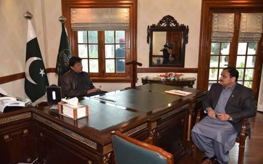 وزیرا عظم عمران خان سے وزیرا علیٰ عثمان بزدارکی ملاقات، اہم امور پر گفتگو