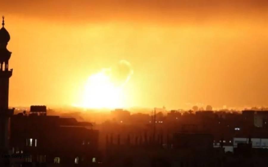 اسرائیلی فورسز کے غزہ پر آج صبح 60فضائی حملوں میں 10فلسطینی شہید ، میڈیا رپورٹس