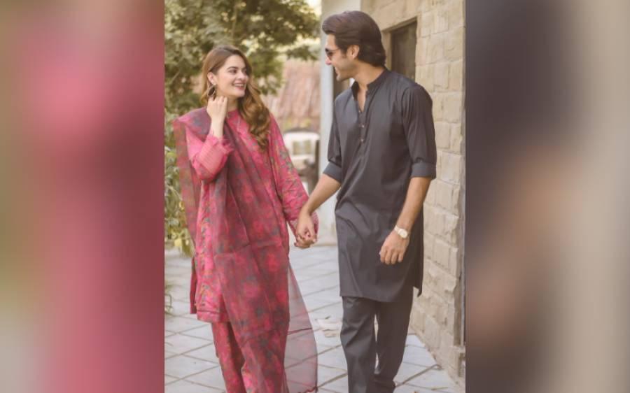 اداکارہ صبور علی کے بعد شوبز کی ایک اور جوڑی اداکارہ منال خان اور احسن محسن اکرام کی بھی بات پکی ہوگئی