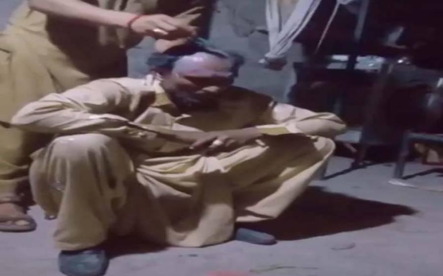 سسرالیوں کا داماد پر تشدد، کان پکڑوانے کے بعد سر کے بال بھی مونڈ دئیے، ویڈیو سامنے آگئی