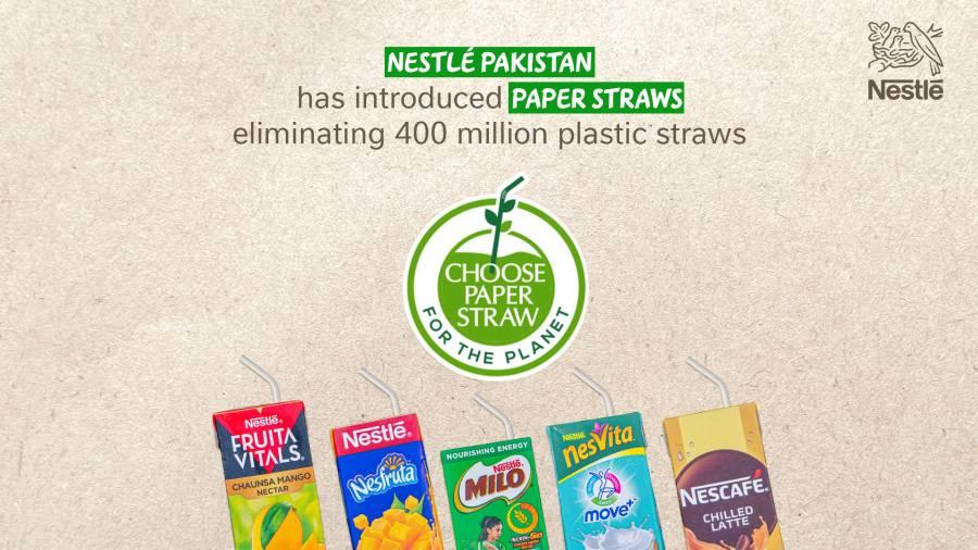 ماحول دوستی کی طرف ایک اور قدم ، نیسلے پاکستان نے پیپر سٹرا متعارف کرادیئے