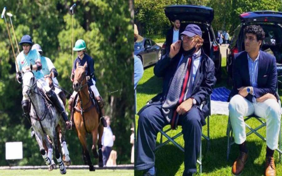 سابق وزیر اعظم نواز شریف کی نواسے کا پولو میچ انجوائے کرتے ہوئے تصویر سامنے آگئی