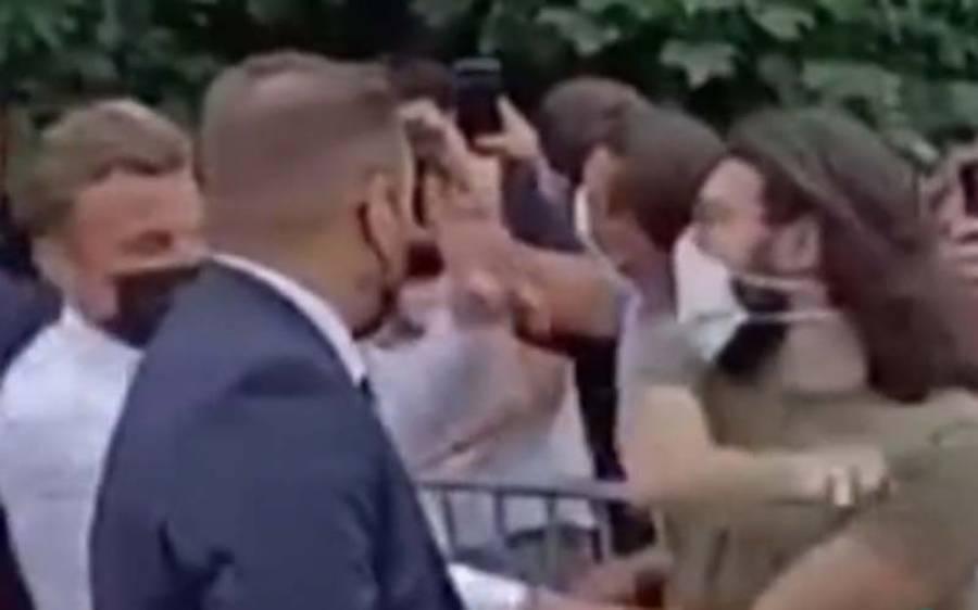 فرانسیسی صدر کو تھپڑ مارنے والے شخص کی شناخت ہوگئی