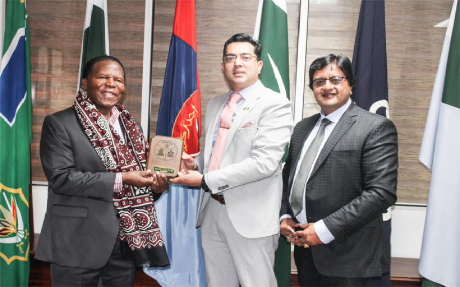 ایسواٹینی کے شہزادہ تھمبو کا پریٹوریا میں پاکستانی ہائی کمیشن کا دورہ