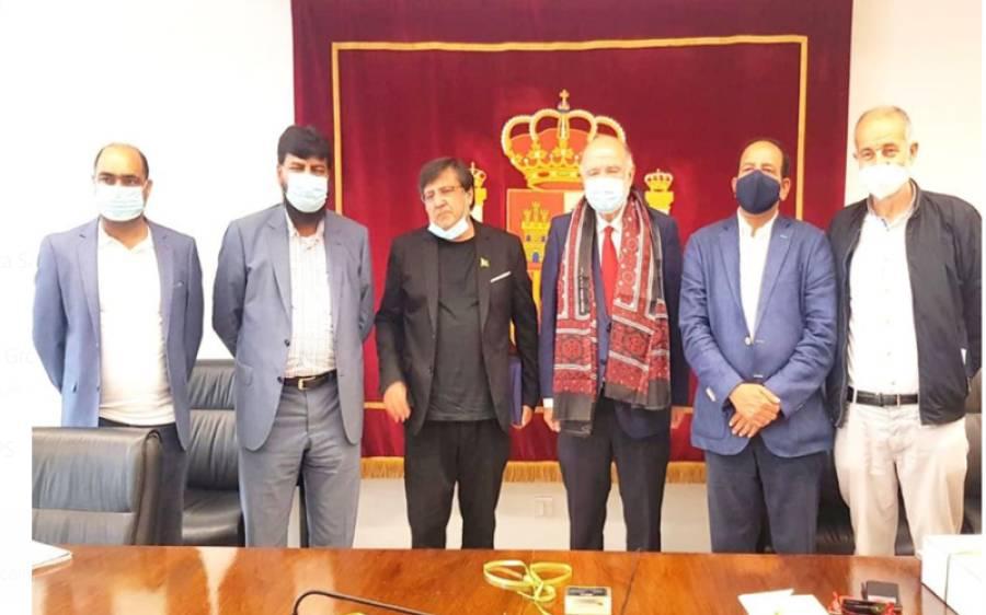ہسپانوی شہر تاراگونا کے گورنر اور ممبر نیشنل اسمبلی سے قونصل جنرل بارسلونا عمران علی چوہدری کی ملاقات