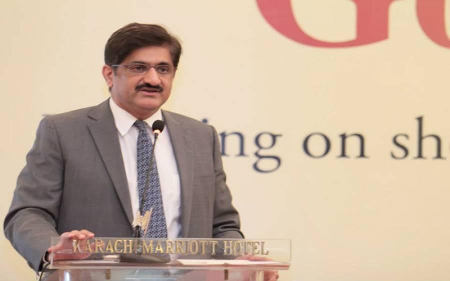 مراد علی شا ہ نے پی ٹی آئی کو نالہ پارٹی قرار دے دیا، کراچی کی خراب صورتحال کا بھی اعتراف