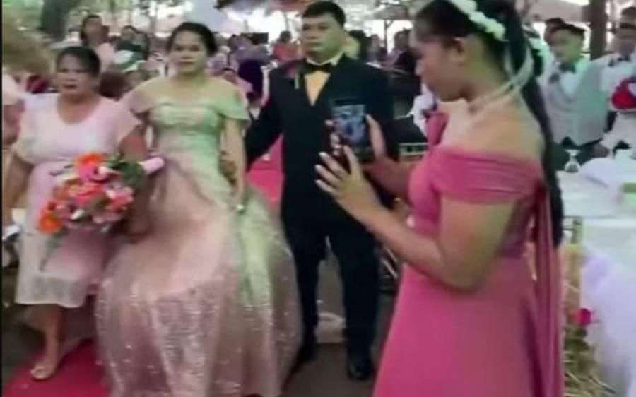 دلہن کے عروسی جوڑے کے نیچے سے آدمی کے نکلنے کی ویڈیو، اصل حقیقت سامنے آگئی