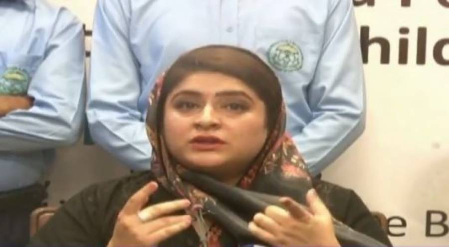 چیئرپرسن چائلڈپروٹیکشن بیورو سارہ احمد کا مدرسے میں مبینہ زیادتی کا نشانہ بننے والے طالب علم اور اس کے والدین سے رابطہ ، یقین دہانی کرادی