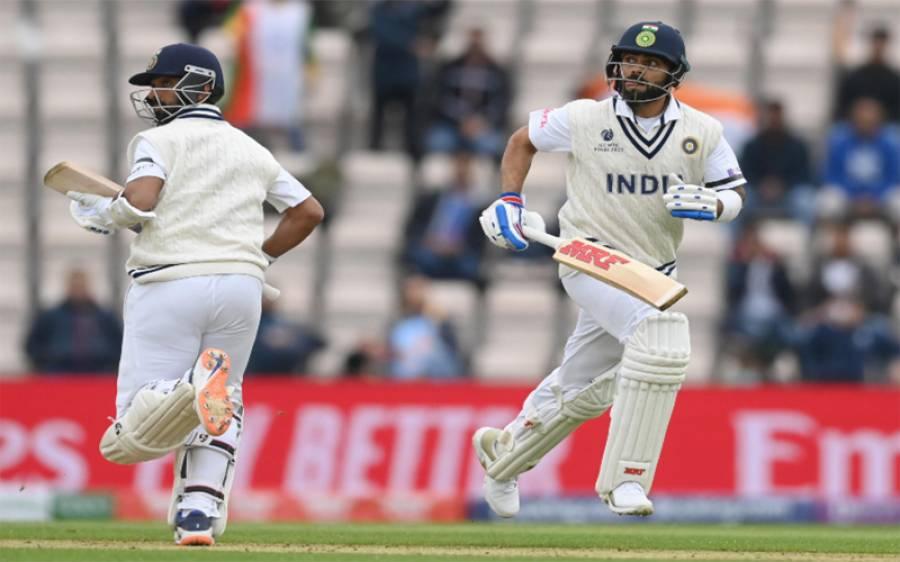آئی سی سی ٹیسٹ چیمپئن شپ کے فائنل کا مقابلہ ، دوسرے روز بھارت نے تین وکٹوں کے نقصان پر 146رنز بنا لیے
