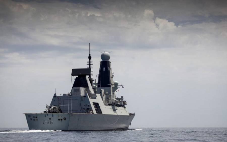 سمندری حدود کی خلاف ورزی، روس نے برطانوی بحری جہاز پر