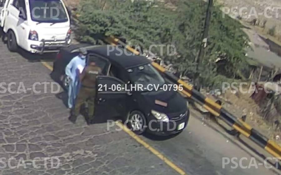 جوہر ٹاﺅن دھماکے میں استعمال ہونے والی گاڑی کی لاہور داخلے کے وقت چیک پوسٹ پر چیکنگ کی تصویر سامنے آ گئی