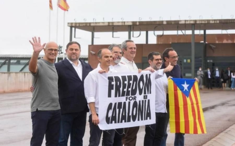 سپین میں علیحدگی پسند رہنماﺅں کو حکومت کی جانب سے معافی کے بعد رہا کردیا گیا