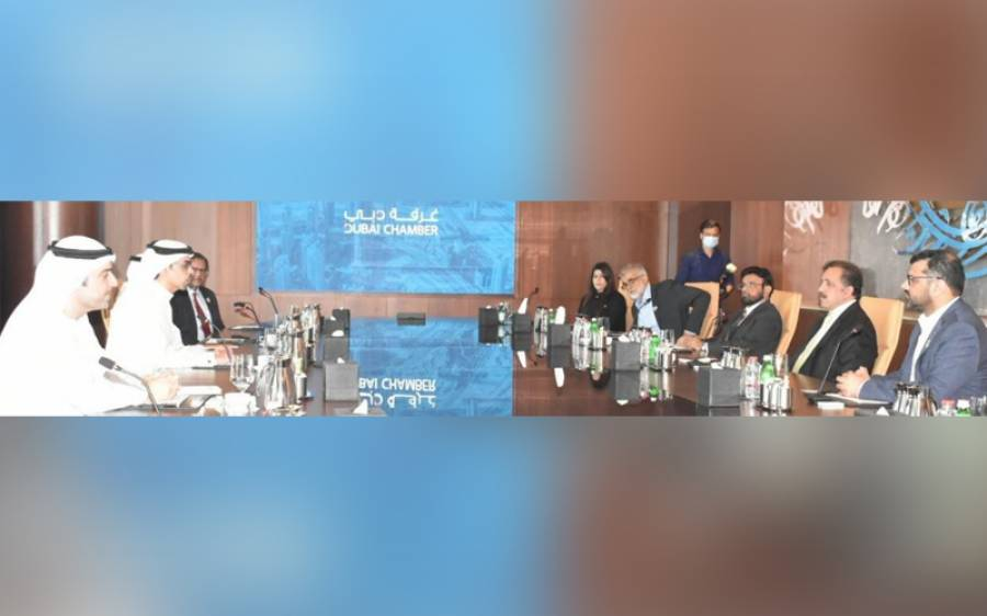 یو اے ای میں تعینات پاکستانی سفیر کی وفد کے ہمراہ دبئی چیمبر آف کامرس کے سی ای او سے ملاقات, سرمایہ کاری بڑھانے پر تبادلہ خیال