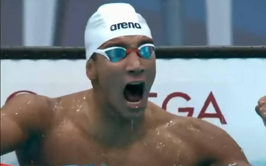 ٹوکیو اولمپکس 2020 ، عرب تیراک نے حیران کن طور پر طلائی تمغہ جیت لیا