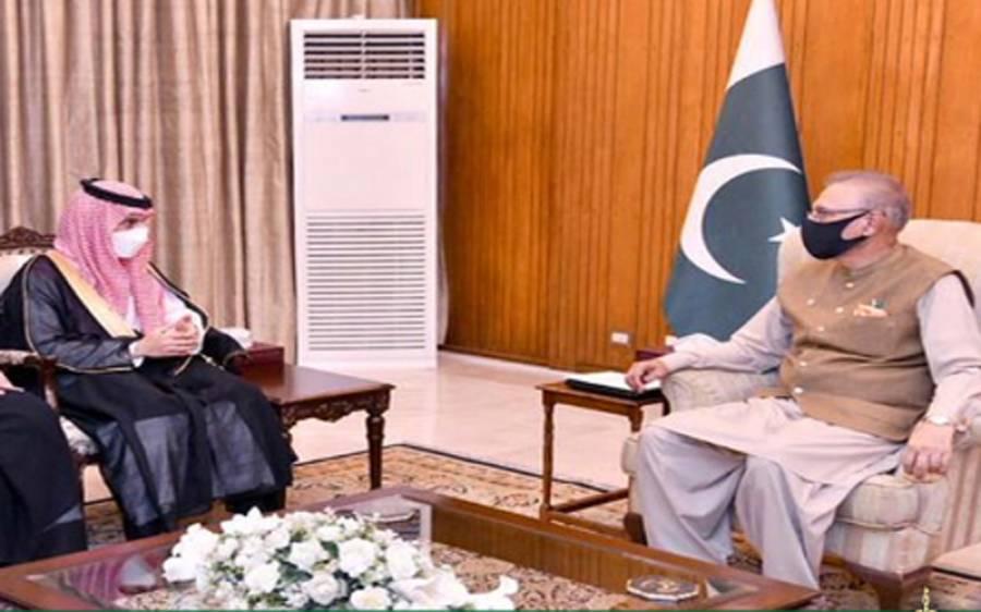صدر مملکت سے سعودی وزیر خارجہ کی ملاقات ، بین الاقوامی برادری کشمیر میں بھارتی انسانی حقوق کی خلاف ورزیاں رکوائے:ڈاکٹر عارف علوی
