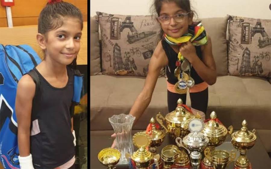 پاکستان کی د س سالہ ہانیہ منہاس نے ایشین ٹینس چیمپین شپ جیت لی