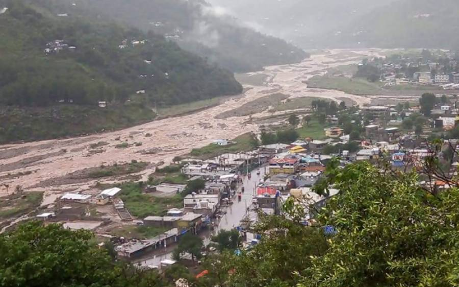 طوفانی بارش، نالہ ماہل میں شدید طغیانی ، ایک شخص لاپتہ، 15 کو ریسکیو کر لیا گیا