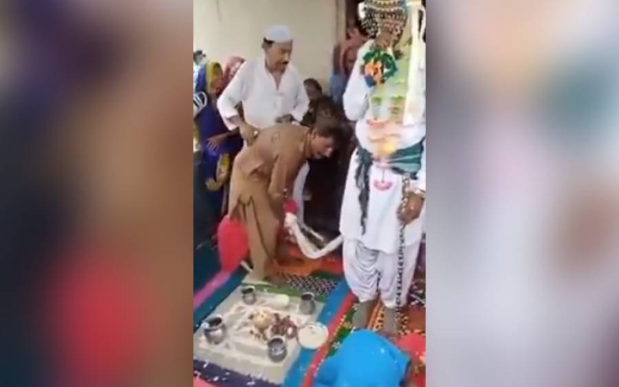 ہندو برادری کے نوجوان کی بکری سے شادی، ویڈیو وائرل ہوگئی