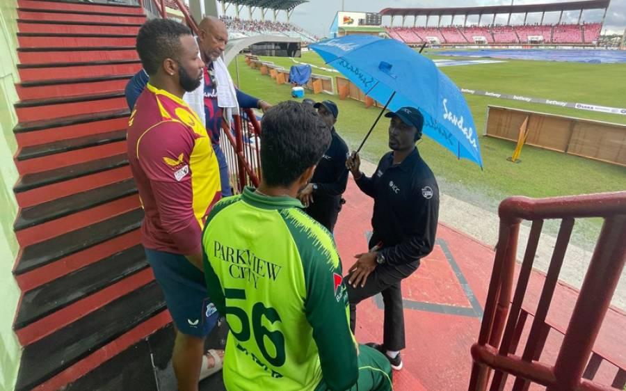 پاکستان بمقابلہ ویسٹ انڈیز، تیسرا ٹی 20 میچ بھی بارش کی نذر ہوگیا
