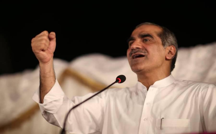 لیگی رہنما سعد رفیق کا کنٹونمنٹ انتخابات میں پی ٹی آئی پر ووٹوں کی خریداری کا الزام