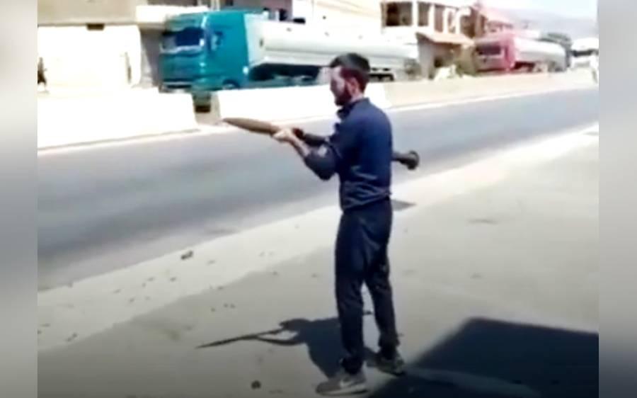 ایرانی ایندھن کی آمد کی خوشی ، لبنان میں حزب اللہ نے آر پی جی راکٹ فائر کر دیے