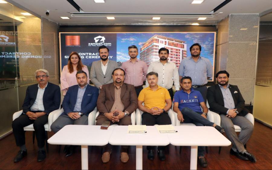زمین ڈاٹ کام نےگلبرگ لاہور میں تعمیر ہونے والے کثیرالمنزلہ منصوبے ٹی سکوائر کی مارکیٹنگ اور سیلز کے حقوق حاصل کر لئے