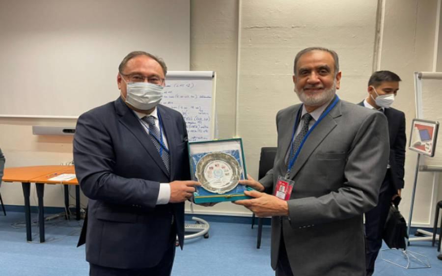 بین الاقوامی ایٹمی توانائی ایجنسی کی جنرل کانفرنس میں پاکستان اور قازقستان کے وفد کی ملاقات