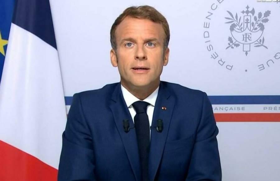 فرانسیسی صدر میکرون کوشہری نے انڈہ ماردیا