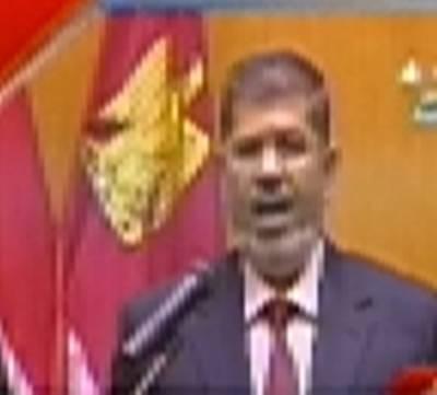 مصر کے نومنتخب صدر محمد مرسی نے اپنے عہدے کا حلف اُٹھالیا