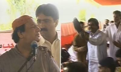 سندھ کے وزیرایاز سومرو جوتے سے بال بال بچ گئے