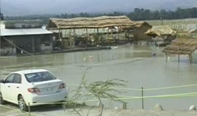 دریائے سوات کے پانی میں اضافہ ، ریسٹورنٹ سمیت ہزار وں ایکٹر اراضی زیرآب آگئی