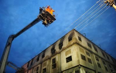 """متاثرین سے """"نجات""""پولیس نے فیکٹری کی عمارت خطرناک قرار دیدی"""